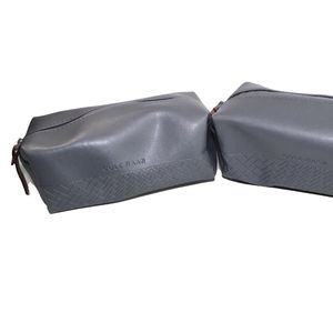 Lot of 2 Cole Haan Gray Makeup Pouch.